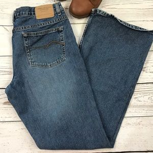 American Eagle SZ 14 Long Jeans Flared Mid-Rise